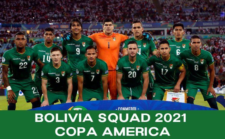 Bolivia squad for Copa America 2021