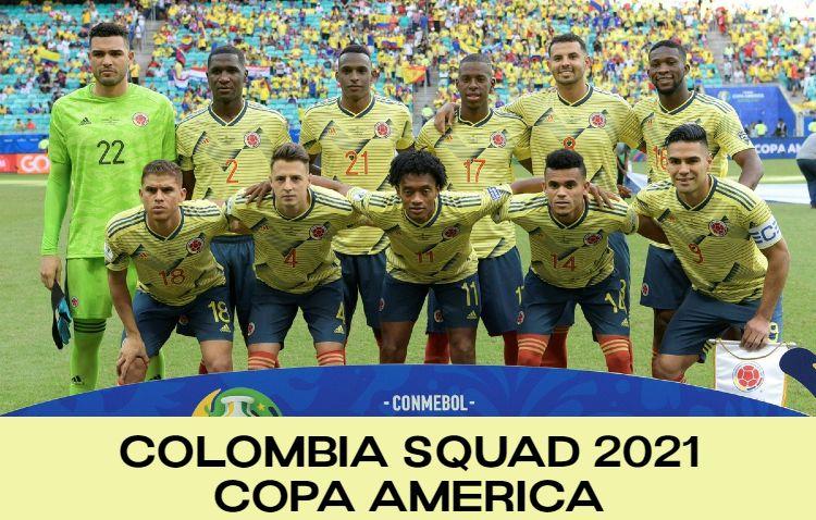 Colombia Squad Copa America 2021