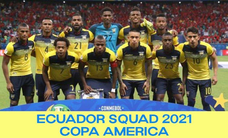 Ecuador Squad Copa America 2021